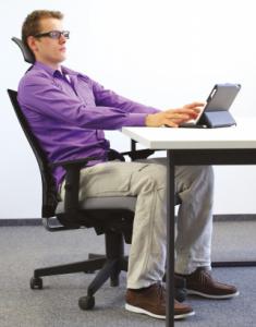 ergonomia e voce -digitador ergonomic-postura