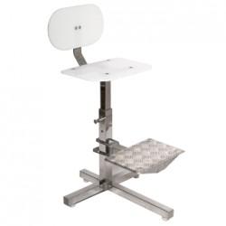 cadeira alta em inox com apoio para os pes ws-930