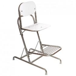 cadeira alta em inox com apoio para os pes ws-940