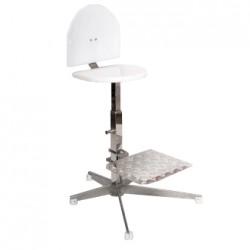 cadeira alta em inox com apoio para os pes ws920